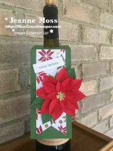 Poinsettia Wine Tag
